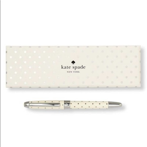 Kate Spade New York Metallic Dot Ballpoint Pen NWT